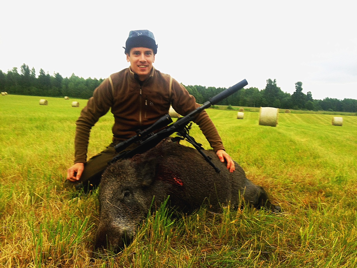 Stolt vildsvinsskytt SVVO 2013-07-05, 2 års galt 80 kg levande vikt