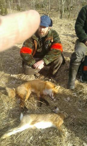 En räv och hare blev skjuten under denna ungdomsjakt som var 2017-02-25