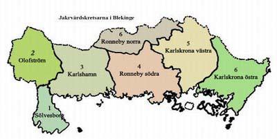 Kommuner I Blekinge Karta.1990 Milstolpar Till 2017 Jagareforbundet Olofstrom Svenska