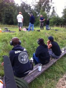 Här finns även Jägarens kaffe med vid skjutvallen under tiden man väntar på sin tur i skjutstolen.