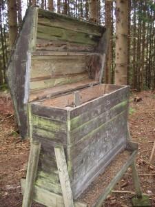Rådjursautomat för utfodring av rådjur.